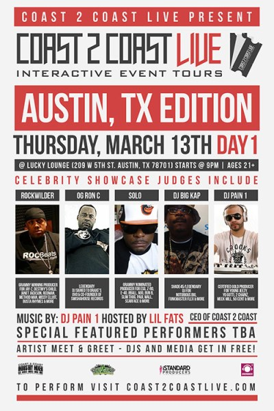 Coast 2 Coast LIVE SXSW Edition 3/13/14 Day 1