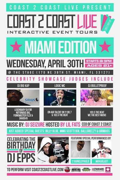 Coast 2 Coast LIVE Miami Edition 4/30/14
