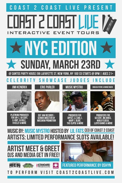 Coast 2 Coast LIVE NYC Edition 3/23/14