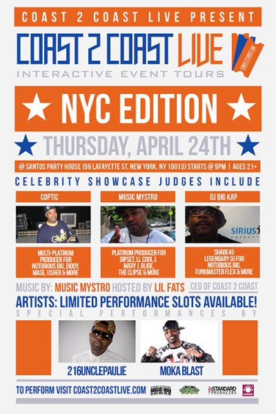 Coast 2 Coast LIVE NYC Edition 4/24/14