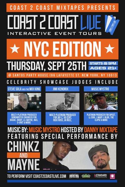 COAST 2 COAST LIVE NYC Edition 9/25/14