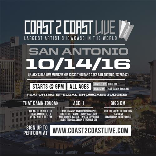 Coast 2 Coast LIVE Artist Showcase San Antonio Edition 10-14-16