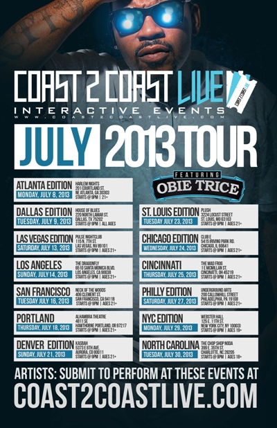 Coast 2 Coast LIVE July 2013 Tour