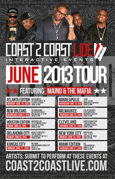 Coast 2 Coast LIVE June Tour