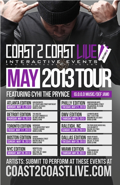 Coast 2 Coast LIVE May Tour