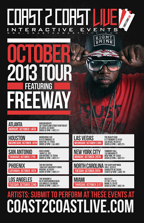 COAST 2 COAST LIVE OCTOBER 2013 TOUR