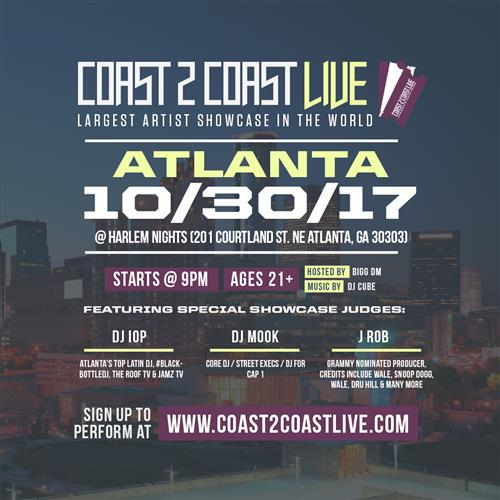 Coast 2 Coast LIVE Interactive Artist Showcase Atlanta Edition 10/30/17
