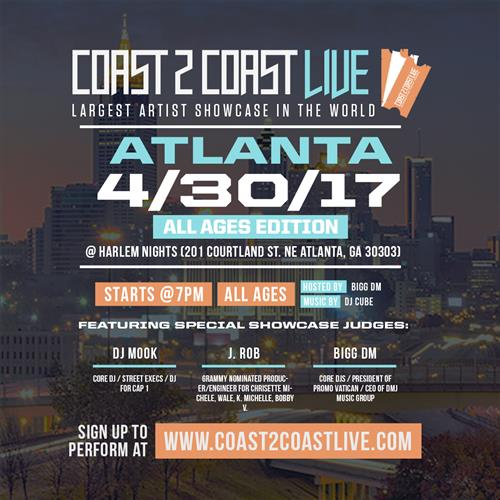 Coast 2 Coast LIVE Interactive Artist Showcase Atlanta Edition 4/30/17