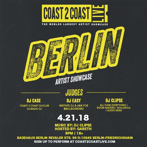 Coast 2 Coast LIVE Interactive Artist Showcase Germany Edition April 21 2018