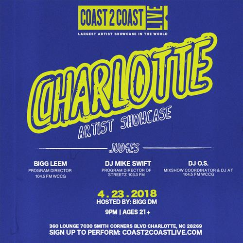 Coast 2 Coast LIVE Interactive Artist Showcase Charlotte Edition 4/23/18