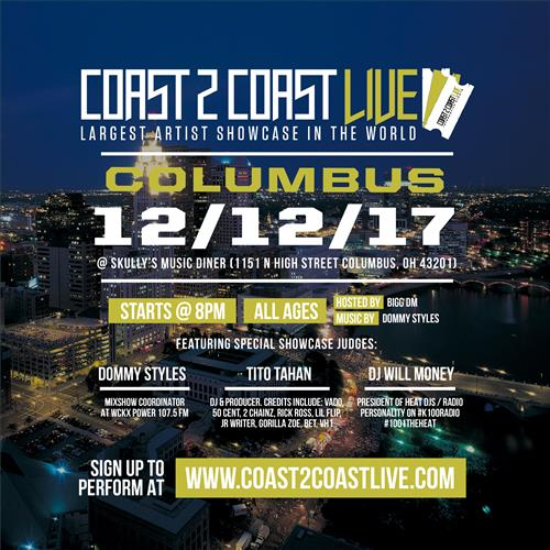 Coast 2 Coast LIVE Interactive Artist Showcase Columbus Edition 12/12/17