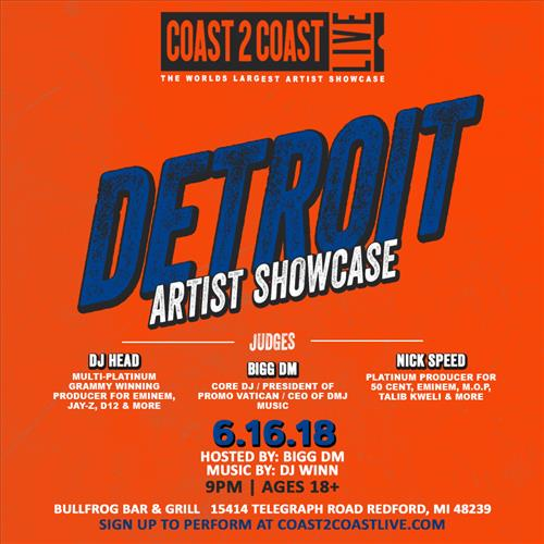 Coast 2 Coast LIVE Interactive Artist Showcase Detroit Edition 6/16/18