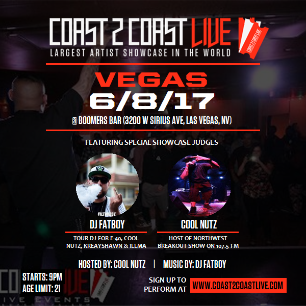 Coast 2 Coast LIVE Interactive Artist Showcase Las Vegas Edition 6/8/17