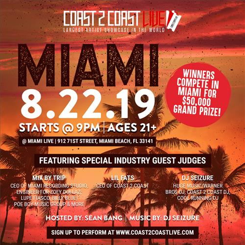 Events | Coast 2 Coast LIVE | Largest Artist Showcase in the World