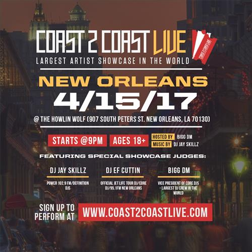 Coast 2 Coast LIVE Artist Showcase New Orleans Edition 11/9/16