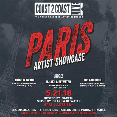 Coast 2 Coast LIVE Interactive Artist Showcase Paris Edition 5/21/18