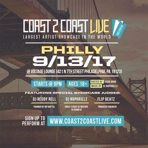 Coast 2 Coast LIVE Interactive Artist Showcase Philadelphia Edition 9/13/17