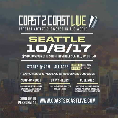 Coast 2 Coast LIVE Interactive Artist Showcase Seattle Edition 10/8/17