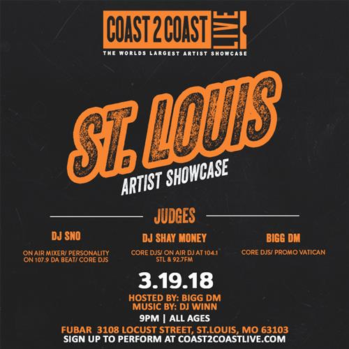 Coast 2 Coast LIVE Interactive Artist Showcase St louis Edition 3/19/18