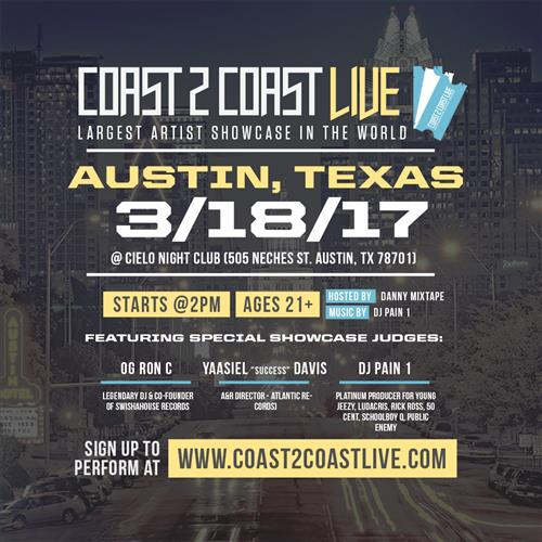 Coast 2 Coast LIVE Artist Showcase Austin, Texas 3/18/17